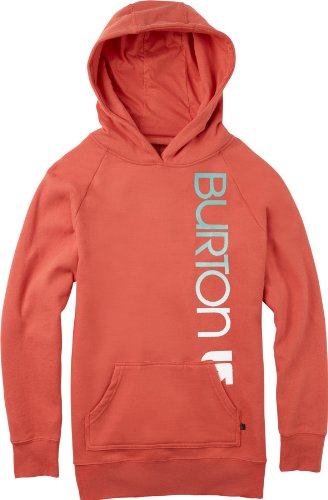Burton Damen Kapuzenpullover Womens Recycled Classic Mountain Pullover Red Clay