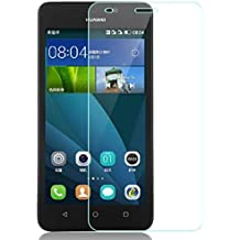 Protector de pantalla Cristal templado para Huawei Ascend Y635 Calidad HD, Grosor 0,3mm, Bordes redondeados 2,5D, alta resistencia a golpes 9H. No deja burbujas en la colocación (Incluye instrucciones y soporte en Español)