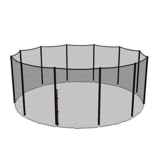 Ampel 24 Ersatz Sicherheitsnetz für Trampolin Ø 490 cm, Ersatznetz für 12 Stangen, Gartentrampolin Netz außenliegend, reißfest, UV-beständig