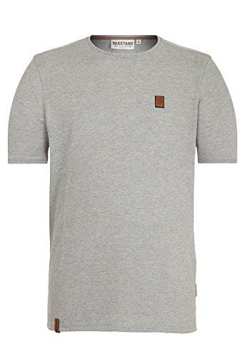 Naketano Male T-Shirt Bumsebumse Shirt IV Grau -Gun Smoke Grey Melange