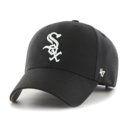 47 Brand Unisex Mlb Chicago White Sox Mvp Cap, Black, OSFA