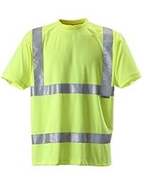 Fast Fashion Herren T-Shirts Atmungsaktiv Reflektierende Hi Sichtbarkeit Workwear Unisex