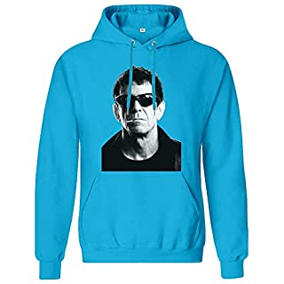 The Velvet Underground Lou Reed Portrait Hoodie Sweatshirt Jumper Pullover for Men 80% Cotton 20% Polyester Clothing for Men Large