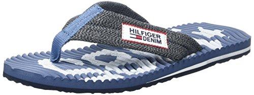 Tommy Hilfiger Herren B2385each 8d 1 Zehentrenner Blau (Denim 404)