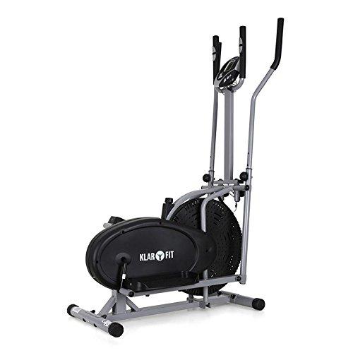 Klarfit ORBIFIT ADVANCED Heimtrainer Crosstrainer inkl. Trainingscomputer & Pulsmesser (stufenlos verstellbarer Widerstand, höhenverstellbarer Lenker, Anzeige: Kalorienverbrauch) silber - 5