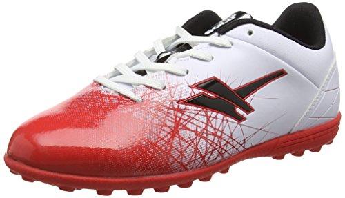 Gola Zeus VX, Jungen Fußballschuhe, Weiß (White/Red/Black), 39 EU (6 UK) (Lightweight Baumwolle Sport-socken)