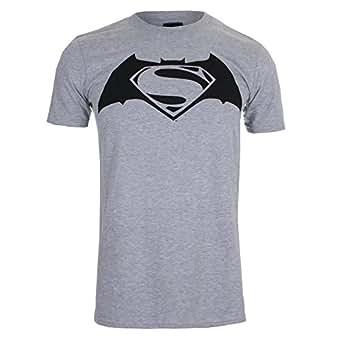 DC Comic Batman v Superman Logo, T-Shirt Homme, Gris-Grey (Sport Grey), XX-Large