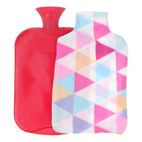 Baoblaze Große Wärmflasche mit Bezug 3 Liter, Robust und Sicher, das perfekte Geschenk - rot