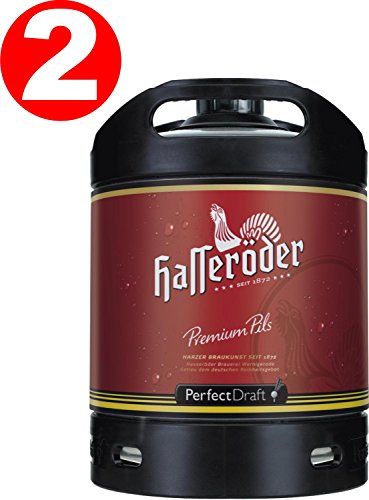 2 x Hasseröder Perfect Draft Premium Pils 6 Liter Fass 4,9 % vol.