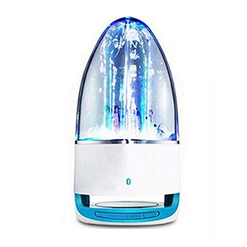 qiyanFashion LED Musik Brunnen Subwoofer Wasser Tanz Bluetooth Lautsprecher Stereo Bass Musik für iPhone 7 8 X Samsung Huwei iPad Laptop. In Kombination Lautsprecher Blau