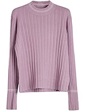 Vogueearth Fashion Hot Mujer's Ladies Pleated Knit Jumper Jersey Sudaderas Suéter Pull-over Pullover Top