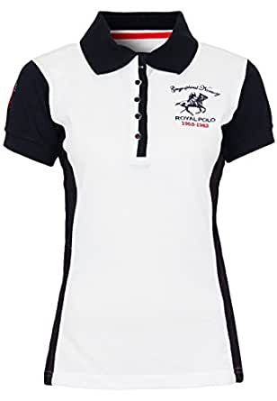 Geographical Norway Polo Karaibes Lady, Taille:5 / XX-Large;Couleur:White