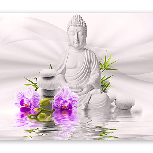 0011 Natürlichen (murando - Fototapete Buddha 200x140 cm - Vlies Tapete - Moderne Wanddeko - Design Tapete - Wandtapete - Wand Dekoration - Natur b-A-0011-a-c)