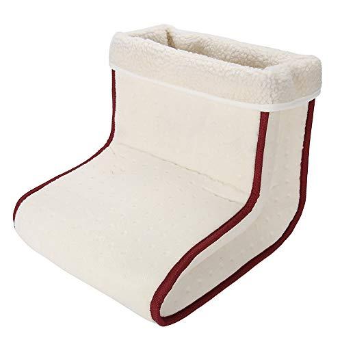 Calentador de pies de masaje, vibración eléctrica Calentador de pies ultra suave Pies removibles Zapatos...