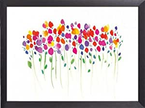 Flowers Poster Art Print and Frame (Aluminium) - Vibrant Floral, Summer Thornton (32 x 24 inches)