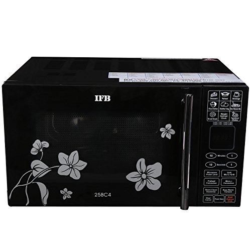 IFB 25BC4 25-Litre Convection Microwave Oven (Black/Floral Design)