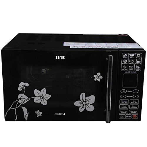 IFB-25BC4-25-Litre-Convection-Microwave-Oven-BlackFloral-Design