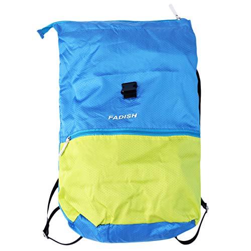 Fenical Badetasche Trockene und Nasse Kleidung Separator Badetasche Wasserdicht Strand Sport Gym Rucksack für Erwachsene Kinder (Gelb Blau)