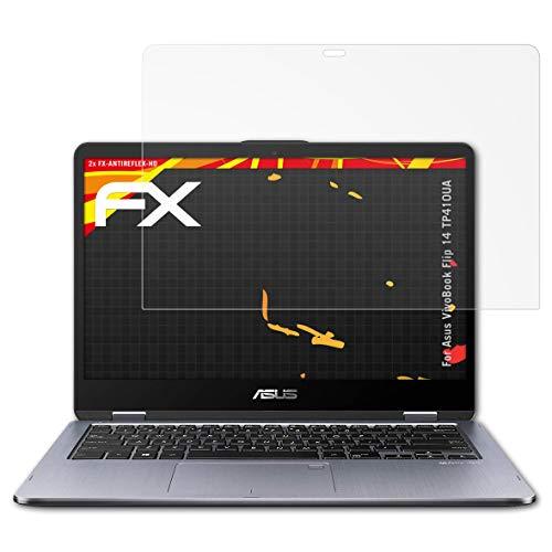 atFolix Schutzfolie kompatibel mit Asus VivoBook Flip 14 TP410UA Bildschirmschutzfolie, HD-Entspiegelung FX Folie (2X)