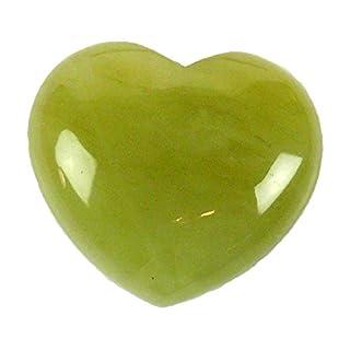 Steengoed Heart Chinese Jade 40 mm, Stone, Green, 3.5 x 4 x 1 cm
