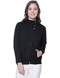 Purys Black Winter Fleece Jacket