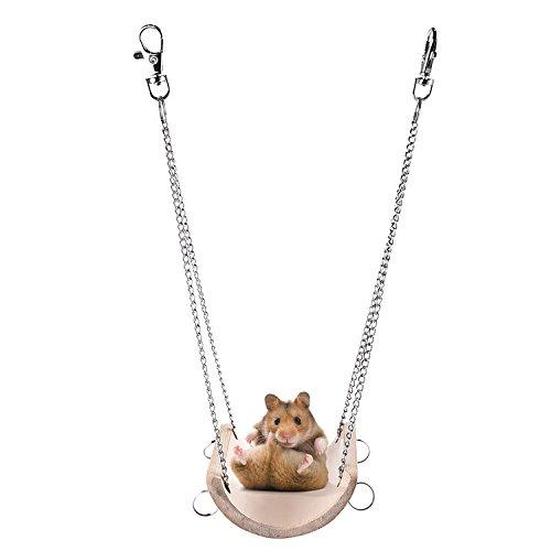 Zaote - Balançoire en bois à suspendre pour hamster,...