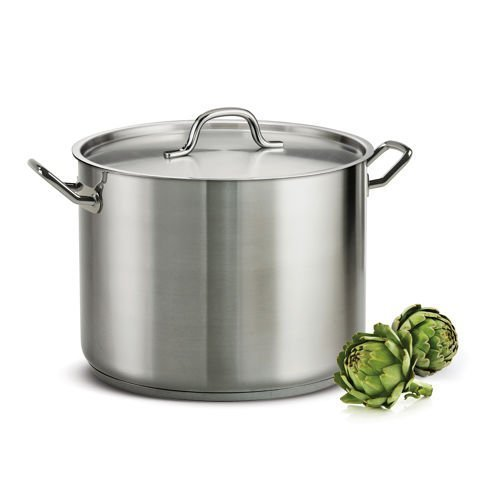 Tramontina ProLine 16 Qt. Stainless Steel Covered Stock Pot by MegaDeal 16 Quart Stock Pot