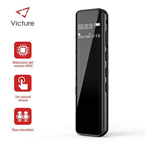 Victure Registratore Vocale Digitale 8 GB di Memoria USB 1536kbps Design a...