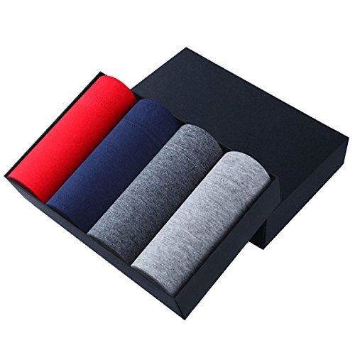 ZHXUANXUAN Uomini Cotone Mutande Giorno Shift Riassunto Del Pugile Più Comodo (4-Pack) A10