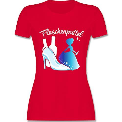 JGA Junggesellinnenabschied - Flaschenputtel - XXL - Rot - L191 - Damen Tshirt und Frauen T-Shirt (Kostüm Spiel Auf Wörtern)