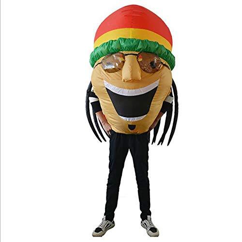 Kostüm Weiblich Frankenstein - XIONGDA Lustige Aufblasbare Kleidung Jamaican Street Performance Kostüm Erwachsene Kreative Einzigartige Kostüm Requisiten für Single Party Halloween Weihnachten Cosplay Party