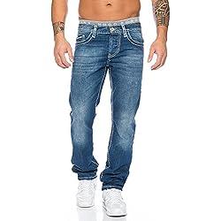 Redbridge Hombres Denim Vaqueros Pantalones Straight Casual Destruido Jeans