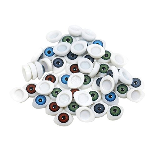 Homyl 60 Stück Bunt Teddyaugen Sicherheitsaugen Kunststoffaugen Puppe Augen DIY Handwerk Puppenherstellung