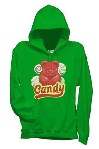 (Sweatshirt Candy Bear - Orsetto - LUSTIG by Mush Dress Your Style - Damen-L-Grün)