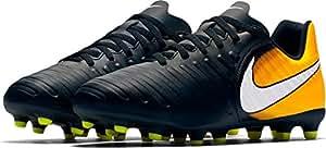 Jr. Tiempo Rio IV (FG) Firm-Ground Football Boots - Black/Laser Orange