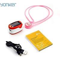Wafalano YONGROW YK-K1 Oxímetro de Pulso con Punta de Dedo portátil Pantalla OLED Mini niños Monitor de saturación de oxígeno en la Sangre Apagado automático