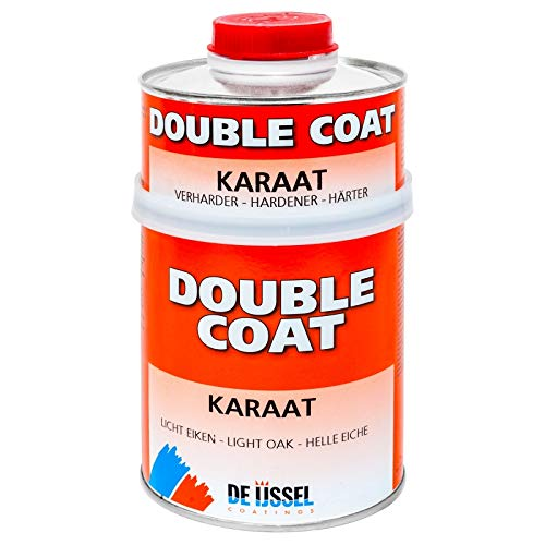De IJssel Double Coat Karaat 2K Bootslack - Mahagoni Halbtransparent - 750 Gramm Set - Klarlack (Yachtlack/Decklack) -