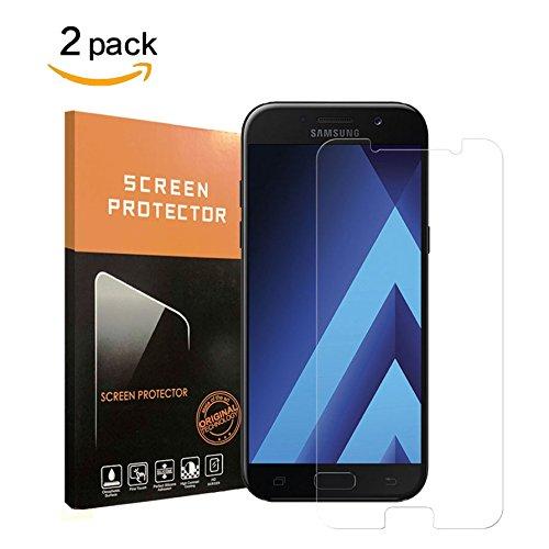 Samsung Galaxy A5 Schutzfolie, Halier [2 Stück] 9H Härte, HD Anti-Öl, Kratzer, Blasen und Fingerabdruck, Einfaches Anbringen,Panzerglasfolie Displayschutzfolie für Samsung Galaxy A5