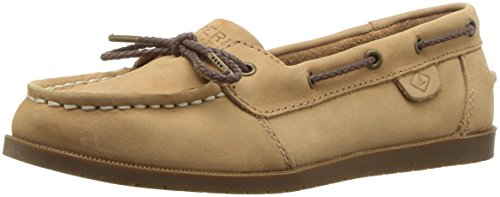 Sperry Top-Sider Girls' Authentic Original 1 Eye Boat Shoe, Sahara, 3 Medium US Little Kid