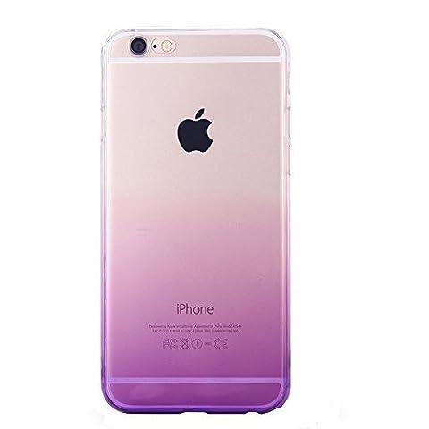 iphone 6S Plus Coque, Dawanza, Dégradé Translucide Doux TPU Ultra Fine Étui Pour iPhone 6S Plus/6 Plus - Violet