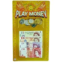 2 Packs Childrens Play Money - English Notes & Pounds / Euros Notes & Coins