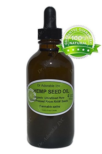 Hemp Oil Benefits for Skin Care Hair Nail 4 oz Amber Glass Bottle with Glass Dropper