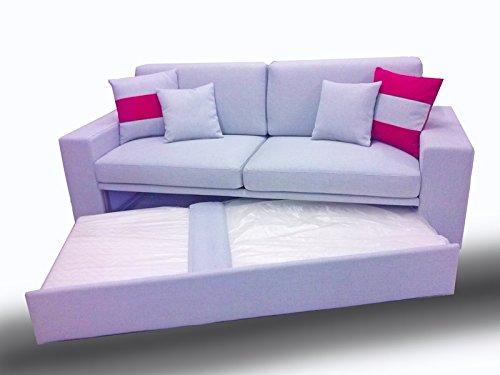 Ponti divani black divano letto singolo con letto estraibile tessuto rete a doghe larghe e - Divani con letto estraibile ...