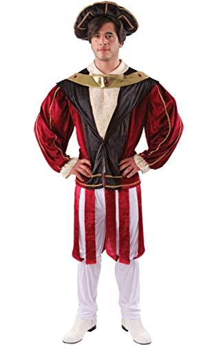 Männer Die Geschichte Mittelalterlichen Tudor König Henry VIII Kostüm Standard