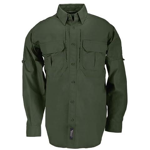 5.11 Tactical #72157 Cotton Tactical Long Sleeve Shirt (OD Green,