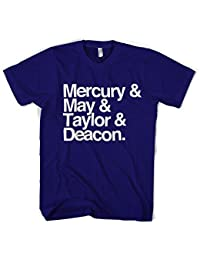 Old Skool Hooligans Mercury May Taylor & Deacon Names T Shirt