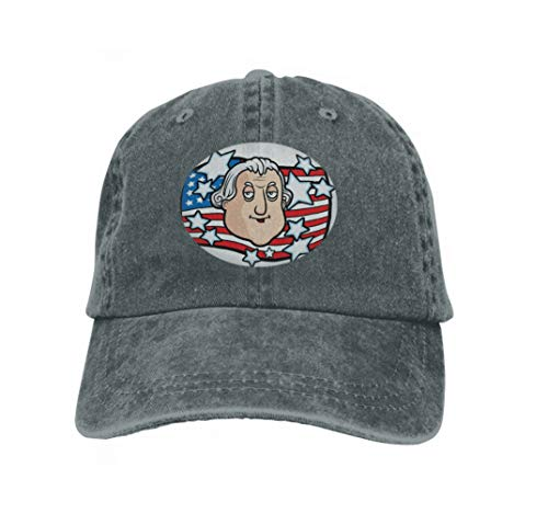 Xunulyn Men's Vintage Dad Cowboy Hat Adjustable Baseball Cap George Washington Carbon (Hut George, Gelber)