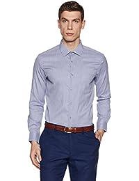 Diverse Men's Striped Regular Fit Cotton Formal Shirt