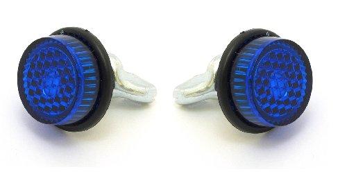 Dior Reflektoren Befestigungsschrauben Montage Bolzen (Paar) - Blau