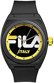 Fila Style Men's Black Dial Silicone Band Watch - 38-180